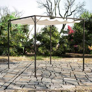 vidaXL Cenador de jardín con tejado toldo 40786