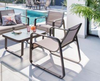 Set cafe/copeo de jardin/terraza. 2sillones y mesa