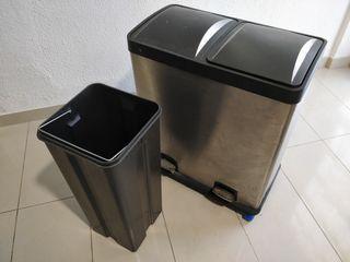 Cubo reciclaje dos compartimentos