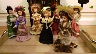 7 muñecas de porcelana