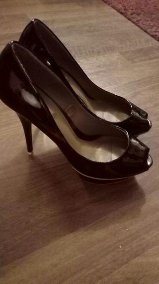 zapatos tacon / tacones negros mujer talla 39 zara