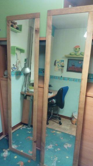 dos espejos grandes