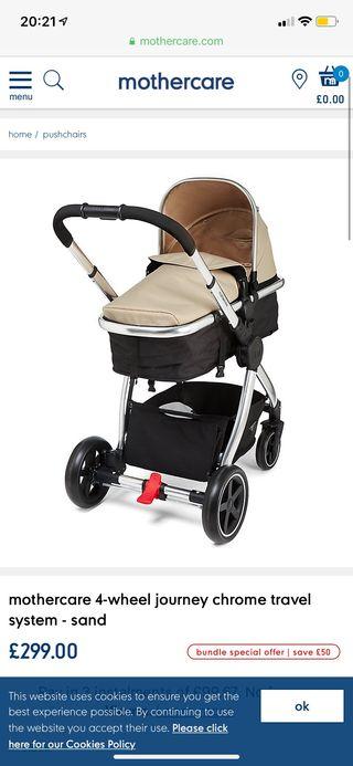 Mothercare journey pram