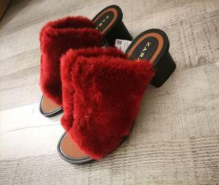 zapatos de tacon de zara.
