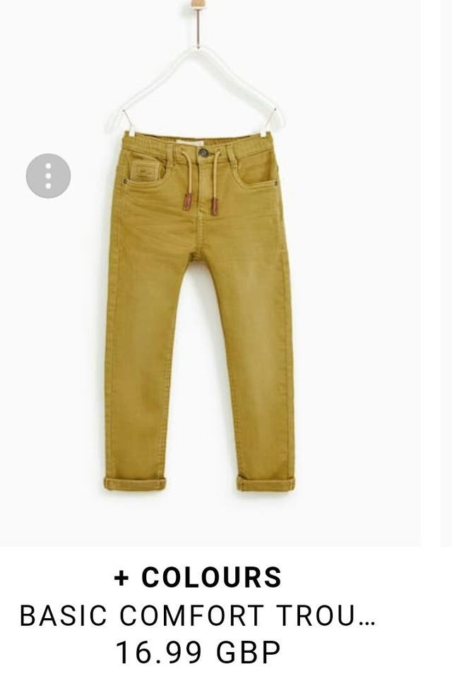 boys Zara trousers