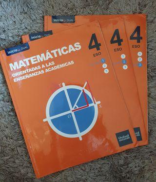 Libro Oxford matemáticas 4° ESO