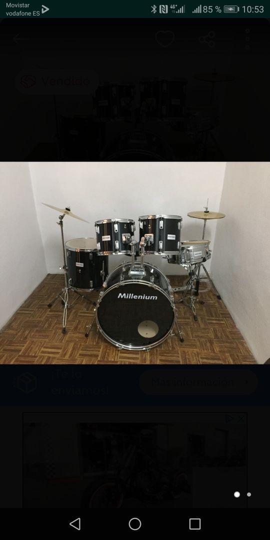 Batería acústica Millennium, set completo.