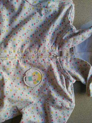 sudadera niña con cremallera sfera 2 años
