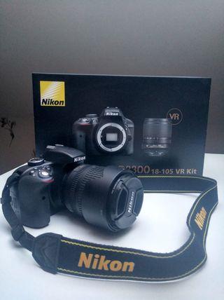 Nikon D3300 + Objetivo 18-105mm + extras