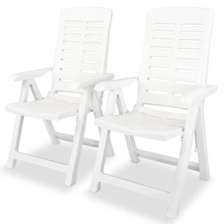 vidaXL Sillas de jardín reclinables 2 unidade43895