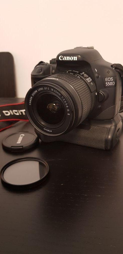 Cámara Canon EOS 550D + objetivo