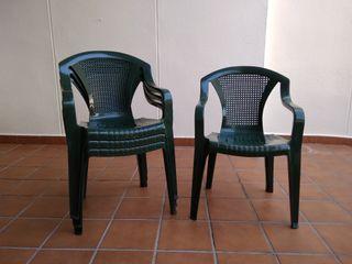 Lote sillas plastico jardin