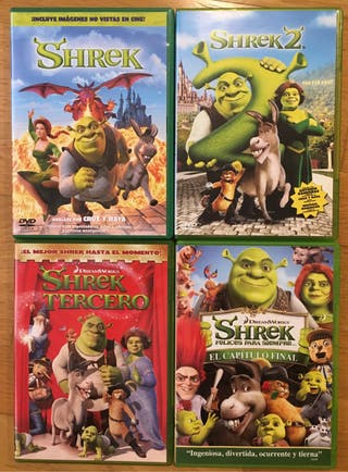 Shrek al completo en DVD