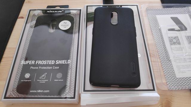 Funda Nilkin Negra para OnePlus 7