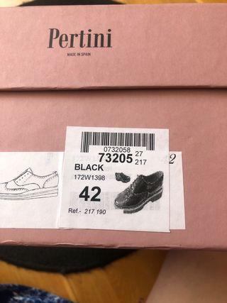 Zapatos Pertini REBAJADÍSIMOS 42 piel