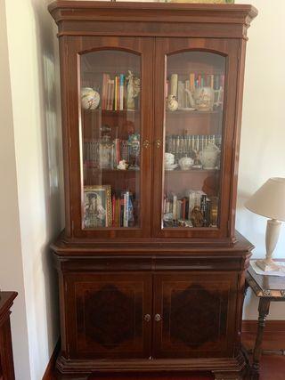 Librería y vitrina