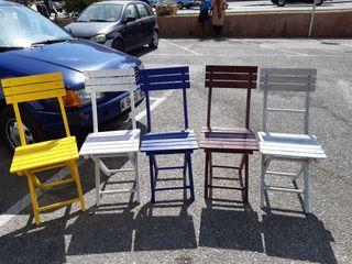 sillas madera color vintage