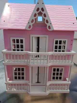 Preciosa casa muñecas madera, casa nines fusta