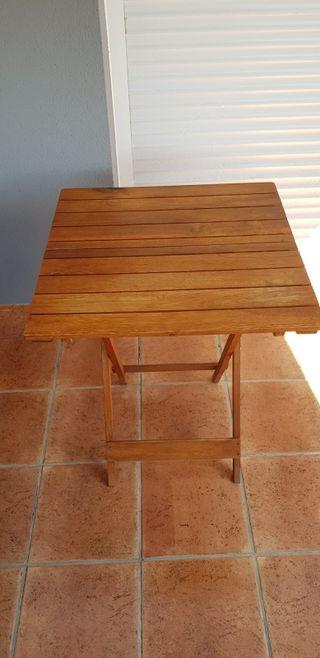 Mesa madera maciza plegable