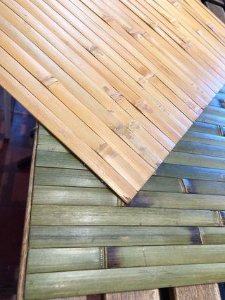 Manteles de bambú
