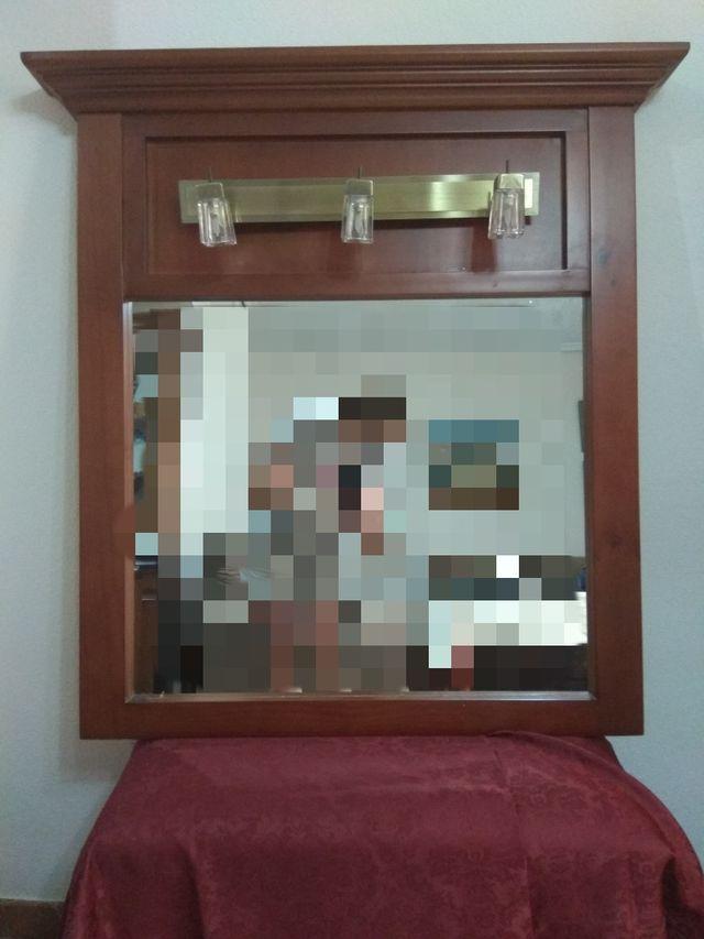 Espejos de madera para cuarto de baño de segunda mano por 60 ...