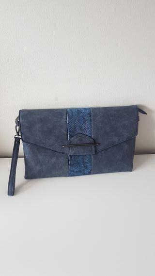 Bolso azul de mano + bandolera NUEVO