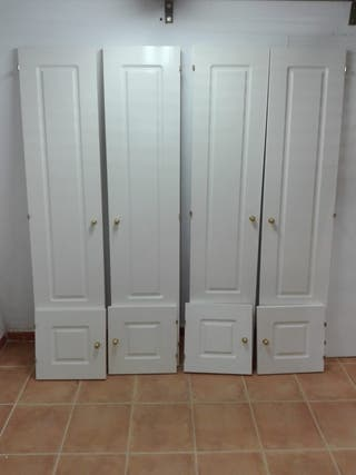 Puertas para hacer armario empotrado.