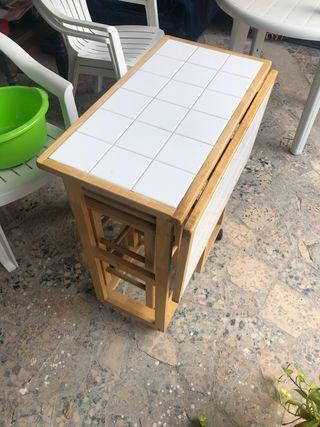 Mesa plegable jardín o cocina