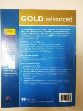 Libro de inglés Advanced Gold