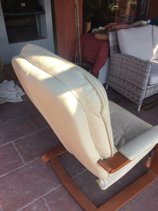 sillón de piel