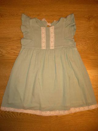 Vestido verde La petite Blossom 4 años