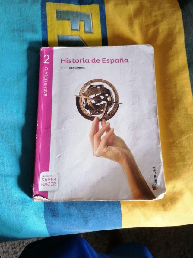 libro historia de España 2bach