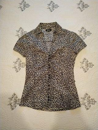Camisa print leopardo