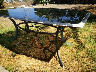 mesa jardin aluminio