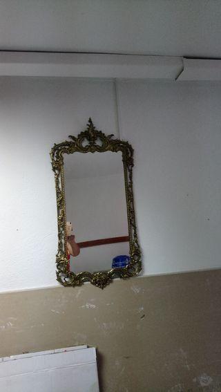 espejo de bronce