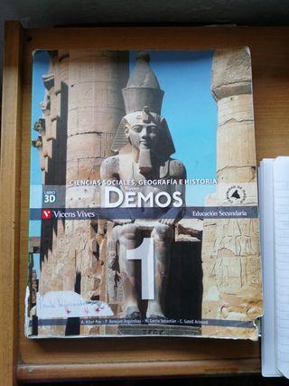 Libro de 1 ESO CIENCIAS SOCIALES GEOGRAFÍA HISTORI