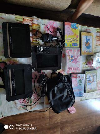 DVD portátil Nevir de coche 2 pantallas