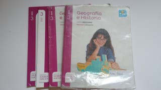 2 libros de Geografía y Historia de 3 ESO