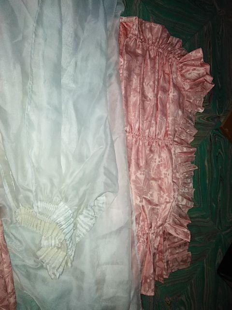 conjunto de cortinas y visillo