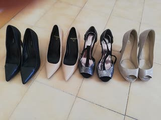 Pack zapatos tacon alto y fino