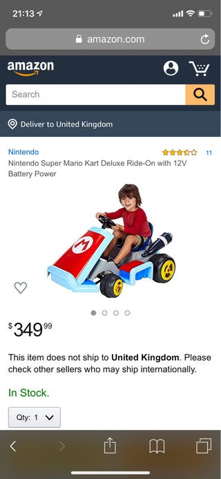 Kids electric Mario car