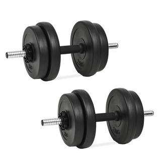 vidaXL Juego de mancuernas 14 piezas 20 kg 91407