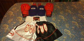 Ropa/conjunto kick boxing/muay thai