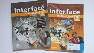 2 libros de inglés Interface 3 de la ESO