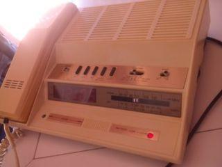 radio teléfono reloj despertador vintage retro