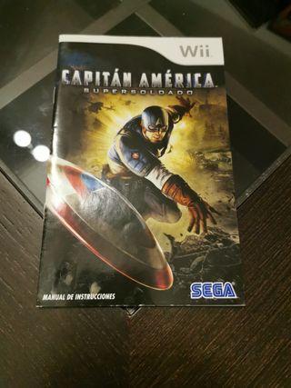 Manual Capitán América Supersoldado Wii