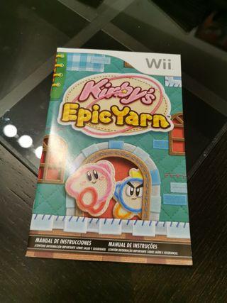 Manual kirby's Epic yarn Wii
