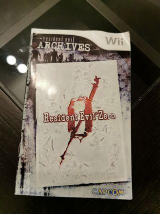 Manual Resident Evil Zero Wii