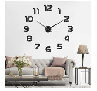 reloj decorativo 3d adhesivo nuevo