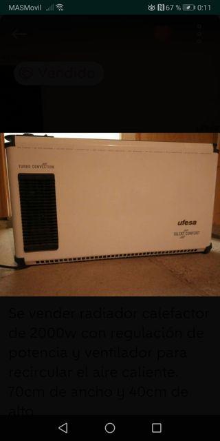 Radiador-Calefactor eléctrico